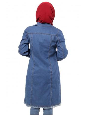 Cep Detaylı Kot Ceket TSD7559 Mavi
