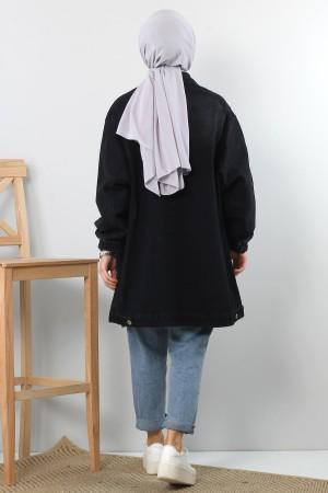 Balon Kol Kot Ceket TSD4123 Siyah