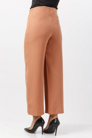 Bol Paça Kumaş Pantolon TSD1297 Tarçın