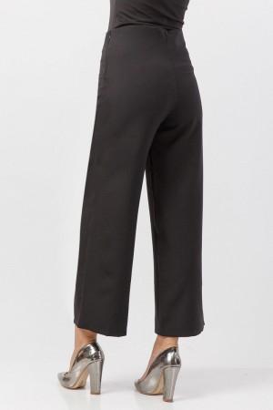 Bol Paça Kumaş Pantolon TSD1297 Siyah