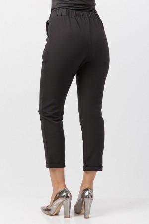 Bilek Boy Kumaş Pantolon TSD2097 Siyah