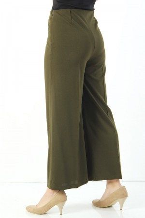 Bol Paça Kumaş Pantolon TSD1548 Haki