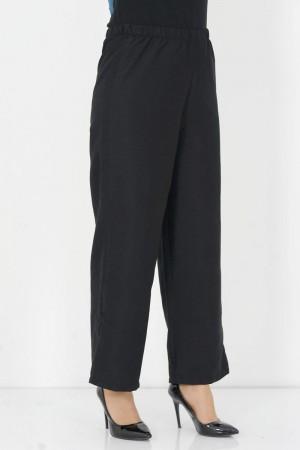 Bol Paça Pantolon TSD0950 Siyah