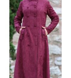 abaya süet purble 7051