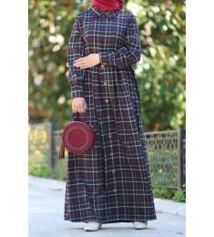 Dress cotton black 7003