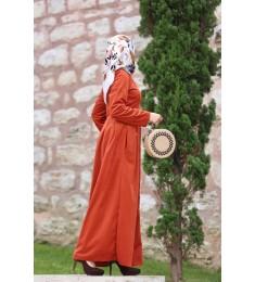 Dress kadife  orange 7047