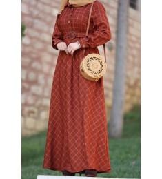 Dress ekosa orange 7002
